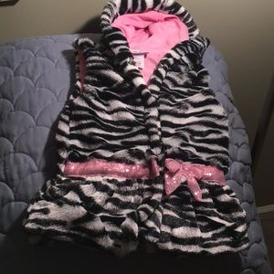 Little Lass Faux Fur Vest - 24 months